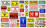 Warnig sign illustrations.