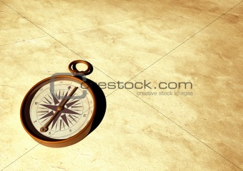 Old compass - 3D generated