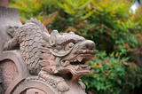 Stone statue of lion in China