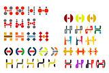 Alphabet letter H