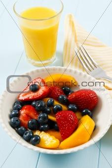Fresh Colorful Fruit Salad