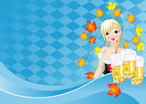 Oktoberfest girl invitation card