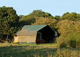 Luxury safari tent exterior