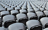 A rows black seats