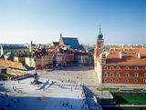 Castle square in Warsaw, Poland.