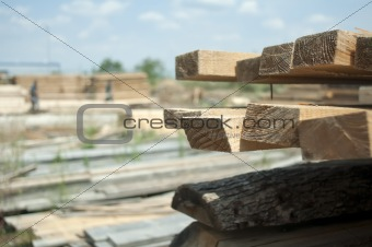 Timber. Planks and beams