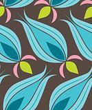 Ottoman Tulip Seamsless Pattern