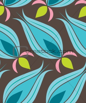 Ottoman Tulip Seamsless Pattern