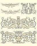 Set of five clasical ornaments