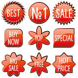 Red Sale buttons