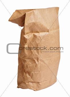 Crumpled paper bag
