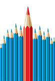 vector pencils, leadership concept