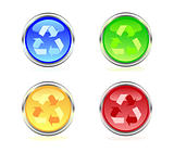 Set of recycle web buttons