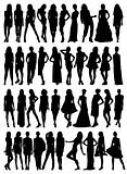 Female model silhouettes