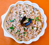 plate with Risotto al mare
