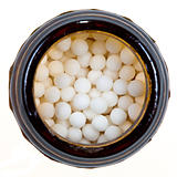 vial with homeopathy sugar ball