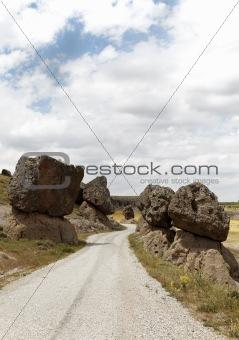 precarious balanced volcanic rocks