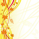 Yellow autumn floral background