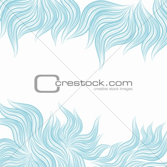 Blue abstract floral background