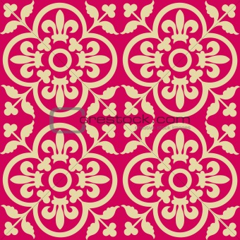 Red royal pattern