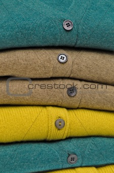 Traditional V-neck cardigans