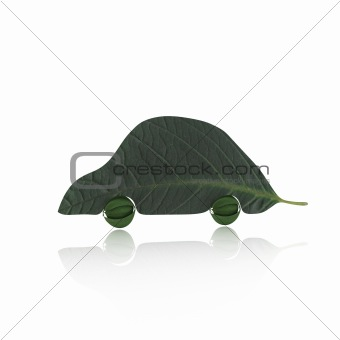 Green Car Concept isolated over white background