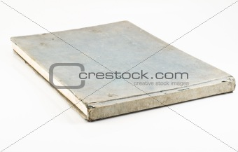 Old blue notebook isolated