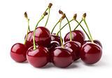 Ripe cherries hill