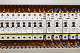 Control panel with circuit-breakers