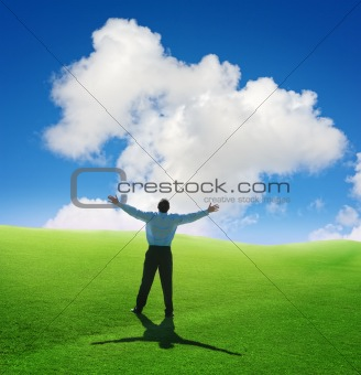 man and cloud