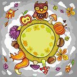 Autumn round planet
