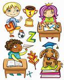 Funny schoolchildren series 1