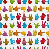 Cartoon Hands seamless pattern