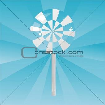 blue lollipop background