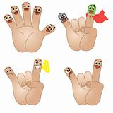 Funny friends-fingers.