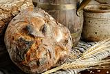 Traditional bread in farmhouse setting