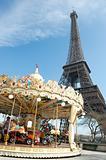Vintage style carousel in Paris