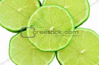 Slice Green Lemons