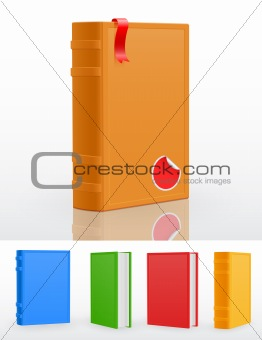 Set of closed standing books