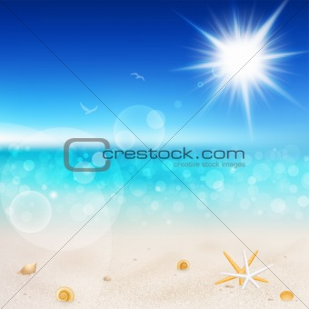 Beautiful seaside view on sunny day