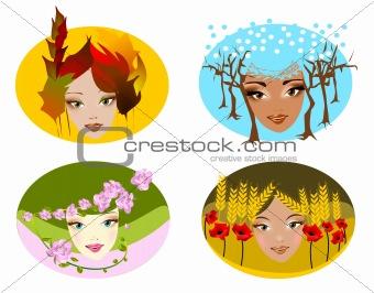 Portraits of four seasons.