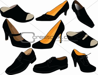 footwear collection - vector