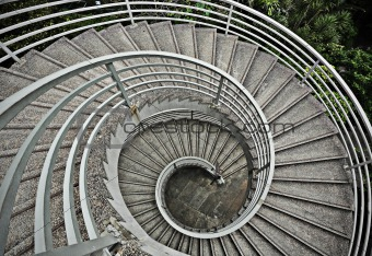 beautiful spiraling stairs