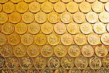 gold coins , Hong Kong currency $0.5 coins