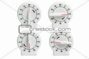 Four kitchen timers