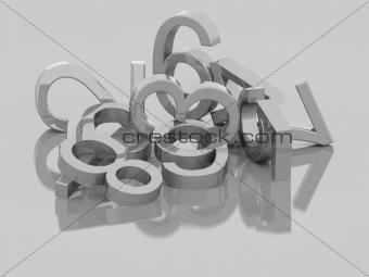 Numbers - 3D Max Render