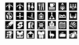 People And Laundry Shop Icons In Black And White