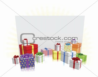 Gifts and Sign Concept