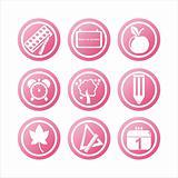 pink school signs