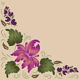 Flowers on a beige background